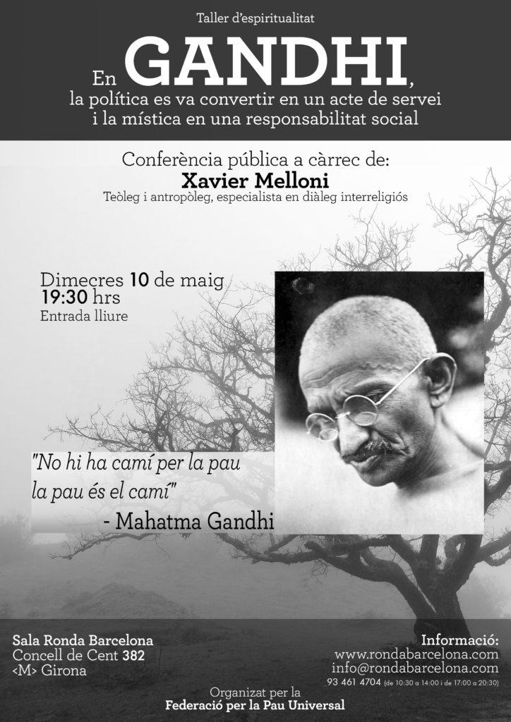 Conferència sobre Gandhi