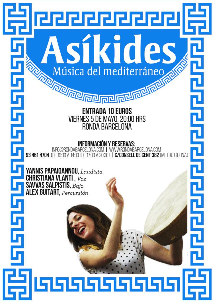 Asíkides, música del mediterrani