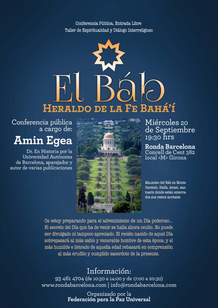 EL BÁB, Heraldo de la Fe Bahá'i @ Ronda Barcelona