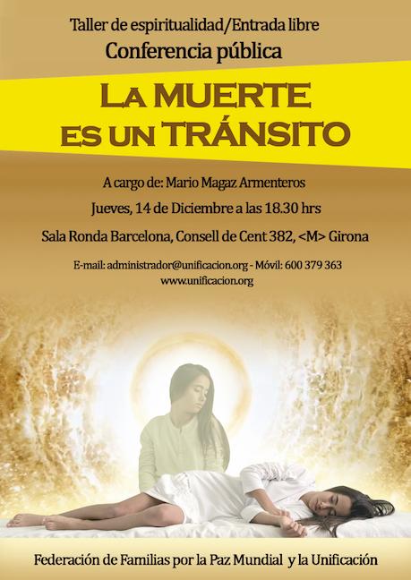 """Conferencia: """"LA MUERTE ES UN TRÁNSITO"""" @ Sala Ronda Barcelona"""